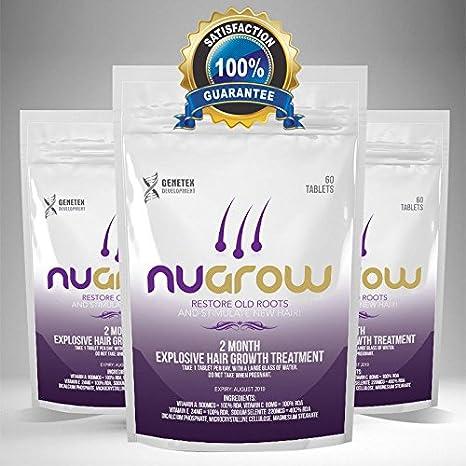 Pastillas de pelo Nugrow para cabello con vitamina de aceite; pastillas de aceite de selenuim: Amazon.es: Belleza