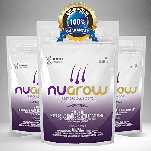 Pastillas de pelo Nugrow para cabello con vitamina de aceite ...
