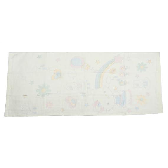 Amazon.com: eDealMax Mezclas del algodón Conejo de impresión de absorción de Lavado Baño Ducha Toalla Toallita Beige: Home & Kitchen