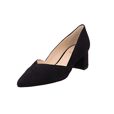 6717539f61ef Hogl Low Block Heel Navy Suede Court Shoes 39 Navy Suede  Amazon.co.uk   Shoes   Bags