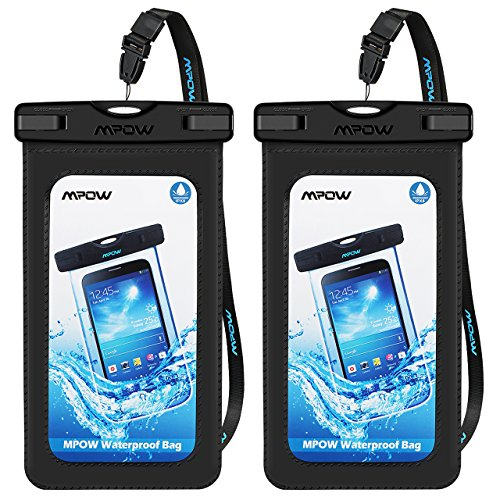 Mpow Upgraded Waterproof Case with Armband, IPX8 Universal Cell Phone Dry Bag Waterproof Pouch Bag for iPhone X/8/8Plus/7/7Plus/6S/6Plus, Samsung Galaxy, HTC, Google Pixel up to 6.0