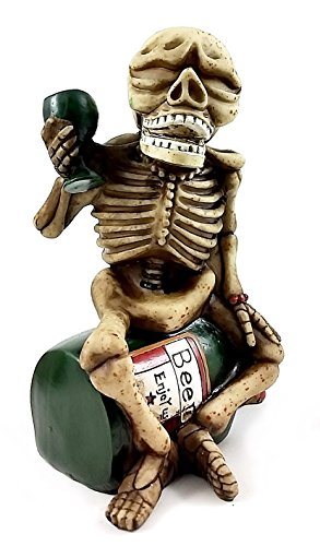 Skeleton Skull Statues Money Bank Beer Drinking Sculptures Figurings - Face Kachina