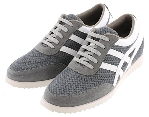 Toto L227082-2.4 Pollici Taller - Scarpe Con Rialzo Altezze In Altezza - Sneaker Grigio Moda Leggera In Cemento