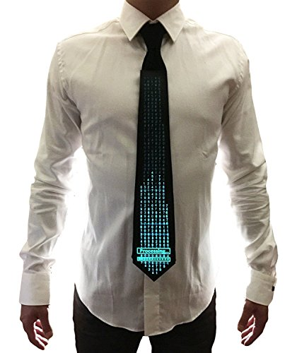 WDCS El Sound Activated Novelty Party Toy Neckties For Rave EDM Clubbing and Halloween Party