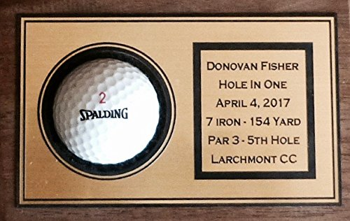Valley Forge Wood Products Hole in One Golf Ball Display 4X6 Engraved Personalized