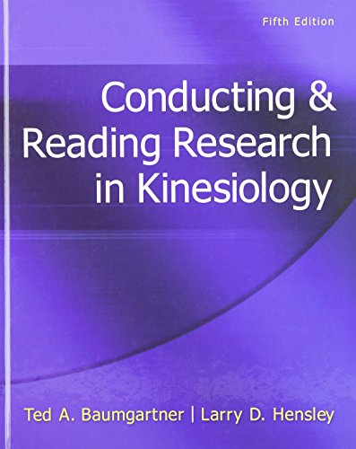 Conducting & Reading Research In Kinesiology by Brand: McGraw-Hill Humanities/Social Sciences/Languages