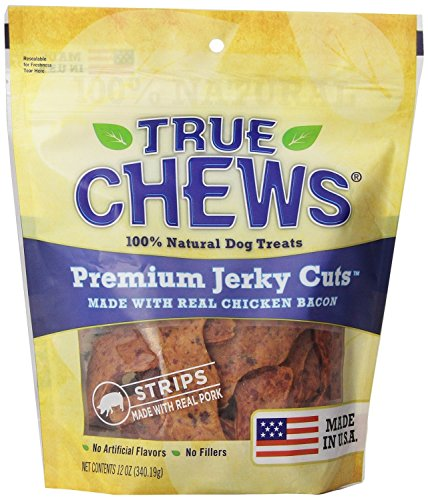 True Chews Chicken Bacon Jerky Treats, 12 Ounce Package