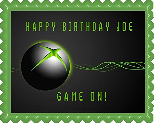 "Video game systems Edible Cake Topper - 7.5"" x 10"" (1/4 sheet) rectangular"
