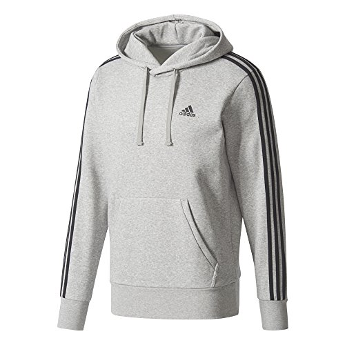 adidas Herren Essentials 3 Stripes P/OB Hoodie
