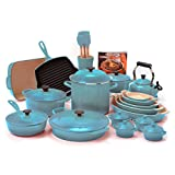 Le Creuset 29pc Cast Iron & Stoneware & Nonstick Cookware Set Blue (Small Image)