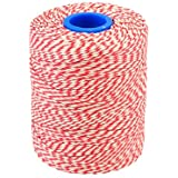 Red/White RAYON FOOD SAFE Bakers & Butchers String/Twine 300m UK Made Best Quality! Roast and Boil Safe! Great for Art's & Crafts