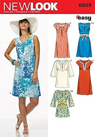 New Look 6176 Patron de couture pour robes de tailles 34-36-38-40-42-44