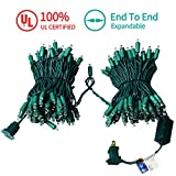 MZD8391 66FT 200 LED Christmas Lights Outdoor String Lights -100% UL Certified- Christmas Tree Lights Decoration for Wedding Party Patio Porch Backyard Garden, Warm White (10 Sets CONNECTABLE)