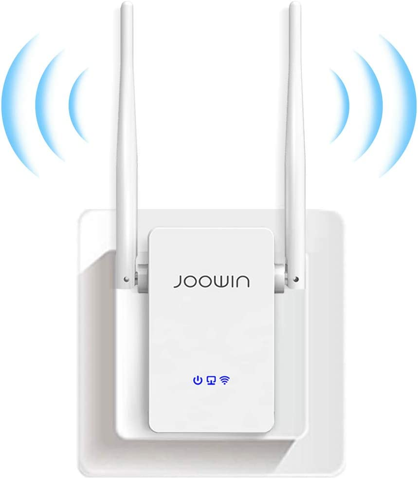 JOOWIN WiFi Extender Signal Range Extender for Home 2.4GHz WiFi Repeater WiFi Range Booster 300Mbps WPS Function with Ethernet Port Support Repeater/Access Point/Router Mode 1000sq.ft Coverage (White)