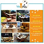 Vea pets Luxury Cat Hammock - Large Soft Plush Bed - Holds Small to Medium Size Cat or Toy Dog | Anti Sway | Attractive & Sturdy Perch | Easy to Assemble | Wood Construction 11