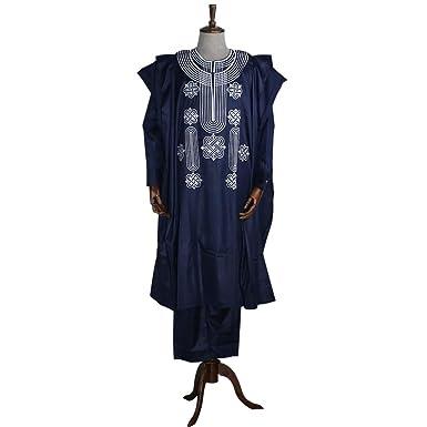 ad1c58431 Amazon.com  HD African Apparel Agbada Clothing Embroidery Dashiki ...