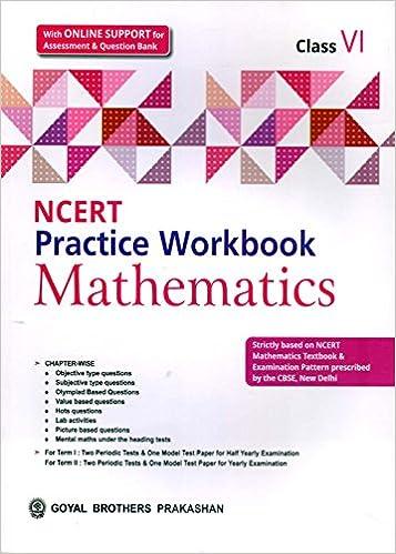 Amazon in: Buy NCERT Practice Workbook Mathematics Class 6 Book