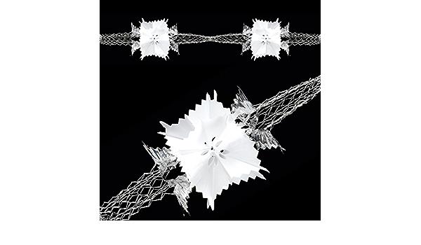 Pack x 6 Silver White Foil 20cm Garlands Christmas Decorations 2.7m Long Each!