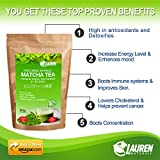 Matcha Green Tea Powder in TEA BAGS: Imported Japanese Organic Pure Green Matcha. Whisk, Bowl, Set Not Required. Risk Free Full Money Back Guarantee
