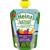 Heinz By Nature Organic Baby Food - Apple, Squash, Carrot & Prune Purée - 128mL Pouch (Pack of 6)
