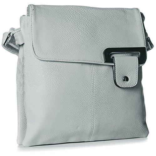 Big Handbag Shop - Light Gray Shoulder Bag Woman