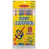 (Pack of 48, 3854 Ct) Studio Art Crayons Twist Barrel, Assorted Colors, 8pk