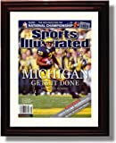 Framed Michigan Wolverines - ''Gets It Done'' Chris Perry Autograph Print