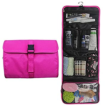d5c8a8922030 Hanging Travel Toiletry Bag Travel Kit Organizer Cosmetic Makeup Waterproof  Wash Bag for Women Girls...