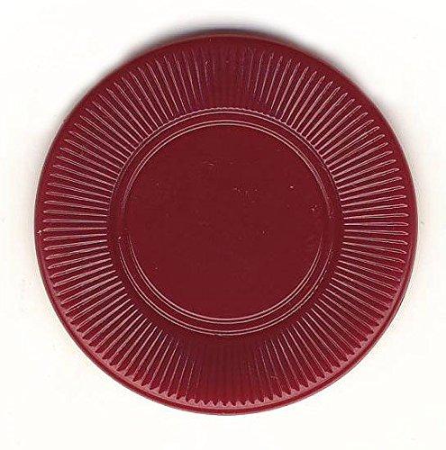 100 Maroon 3.1 g Light Weight Interlocking Plastic Roulette Poker Chips