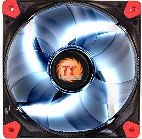 Thermaltake Luna 12 LED - Ventilador diseñado para la Caja de la PC o el disipador de CPU, Color Blanco