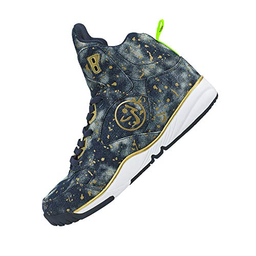 Zumba Fitness Energy Boom Splattered Zumba Paint Blue Shoes Women's Denim Footwear FqrF1