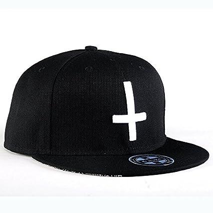 NBKLS Cap de Hip Hop Cruz Bordado Gorra de béisbol de Skate Gorras Planas  para Hombres 7c5ab6a1054