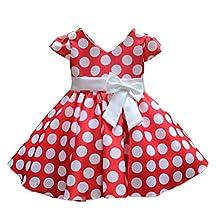 Shiny Toddler Little girls Polka Dot Flowers Girl Brithday Party Dress