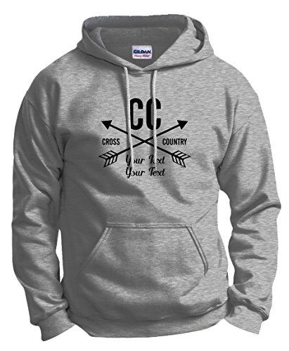 Custom Graduation T-Shirt Personalized Cross Country Gifts Your School Name Hoodie Sweatshirt Small Ash