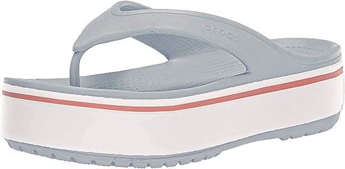 crocs crocband platform flip