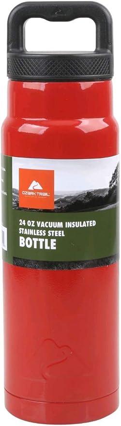 Ozark Trail 24 oz Double Wall Stainless Steel Water Bottle FOREST GREEN