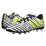 adidas Boys' Nemeziz 17.4 Fxg J Soccer Shoe, White/Solar Yellow/Black, 1.5 Medium US