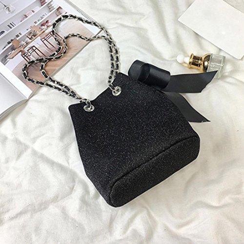 Chain Bag Bag Purse and Bag Black Girls Handbag Shoulder Women For Bucket NXDA Bowknot Crossbody Women Velvet Black Bag 0X7q0d