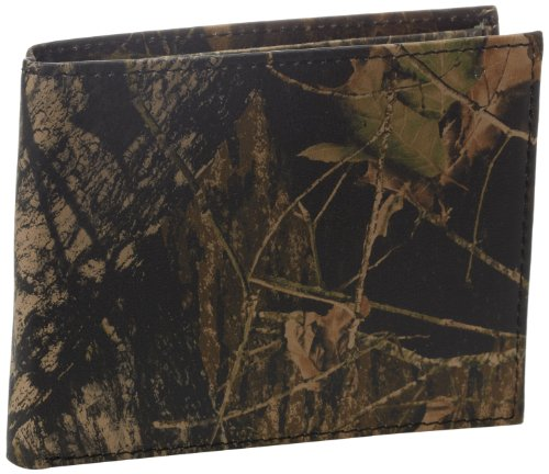 Weber's Leathers Men's Break-Up Leather Billfold, Mossy Oak Break-Up, One Size