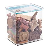 InterDesign Pantry Food Storage Organizer Bin for Kitchen with Air-Tight Hinged Lid-3 Quart, Clear