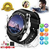 Smart Watch, Smartwatch for Android Phones, Smart Watches Touchscreen with Camera Bluetooth Watch Phone with SIM Card Slot Watch Cell Phone Compatible Android Samsung iOS Phone XS X8 7 11