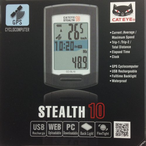 CatEye Stealth 10 CC-GL10 bike computer wireless white/black