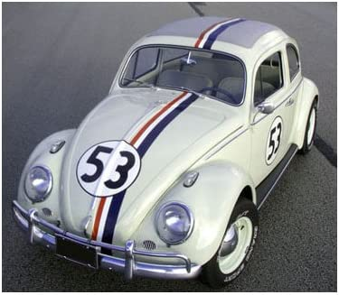Herbie Love Bug 53 Vintage VW Volkswagen Beetle Sports Car Racing Number Sticker