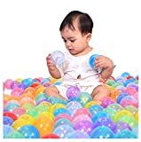 Multicolor Baby Kid Child Fun Game Swim Pit Toy Round Soft Plastic Crystal Ocean Ball Assorted Soft Ball Set Toy - Random Color