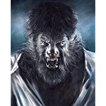 "The Wolfman Poster Painting 100% Handmade Pastel Drawing By Artist Eugene Size 22.4""x28"" Inch"