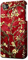 R2414 Red Blossoming Almond Tree Van Gogh Case Cover For IPHONE 5 5S SE