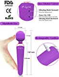 Vibrator, Rechargeable sex toys with 10 Speed G-spot Vagina and Clitoris Vibrating for Adults,Massager for Men, Women or Couples by Lyork - Purple