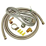 Eastman's 6' Stainless Steel Dishwasher Installation Kit comes with all the connectors and fittings required to set up your new dishwasher including a power cord. Its quality is determined by what you can't see. The supply line features a plc. core, ...