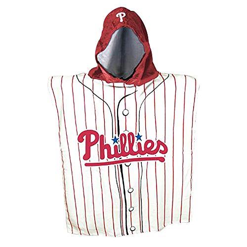 The Northwest Company MLB Philadelphia Phillies Hooded Poncho Beach Towel Hood Ponchos