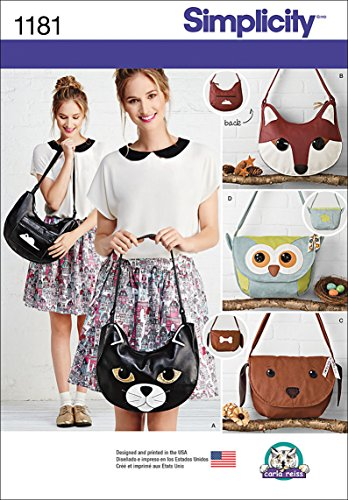 (Simplicity US1181OS Cute Animal Purse Sewing Patterns, One Size Only)